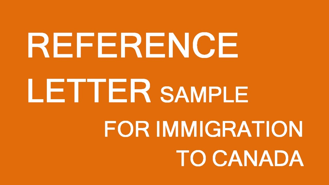 reference letter sample  immigration canada