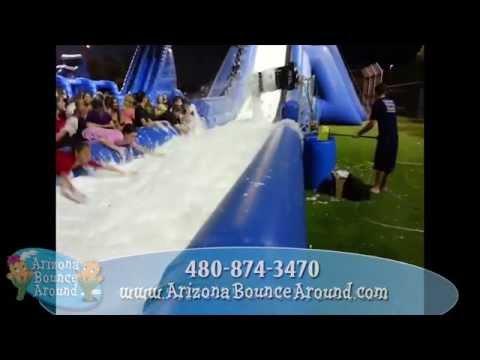 Foamy Water Slide Rental - Foam Parties - Phoenix, Tempe, Arizona