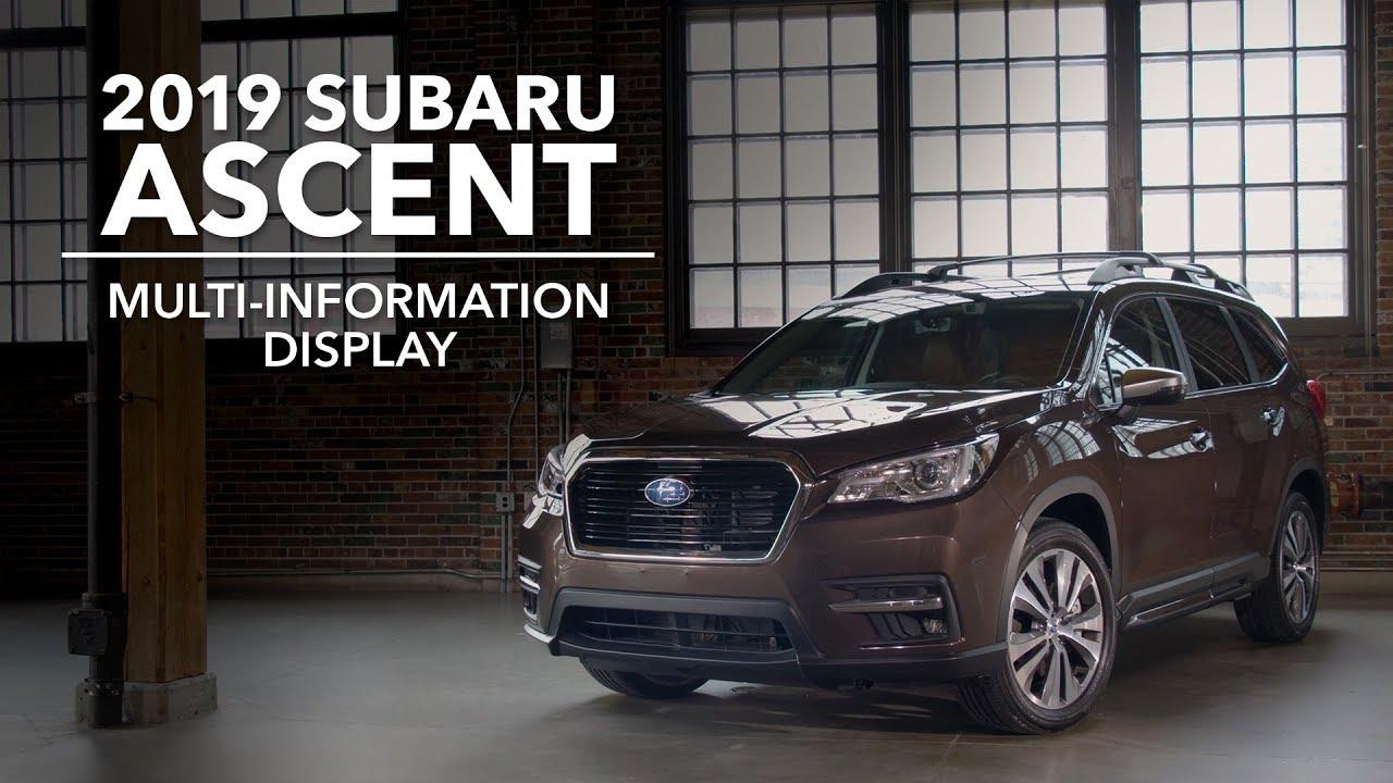 2019 Subaru Ascent - Multi-Information Display (MID)