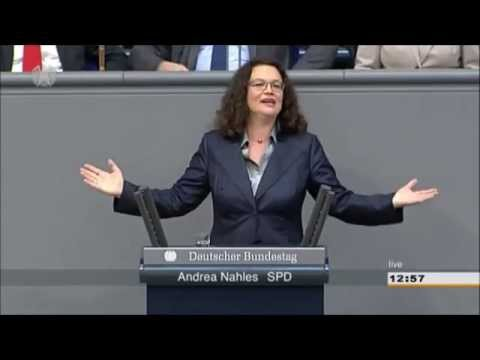 Andrea Nahles (SPD) wird zu Andrea Langstrumpf