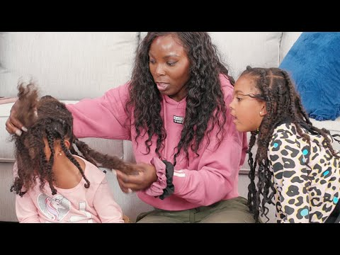 Natural Hair Braid Removal | What's In HER HAIR?!