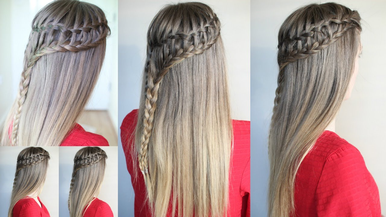 How To Ladder Waterfall Braid