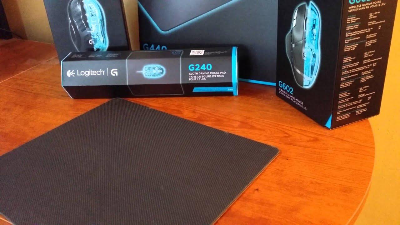 Logitech G440 Gaming Mouse Pad Hard 4k Unboxing Youtube