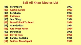 Saif Ali Khan Movies List