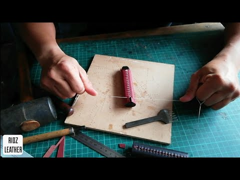 Free Tutorial Making Caliburn Leather Case || Cara Membuat Sarung Kulit Caliburn   #caliburn