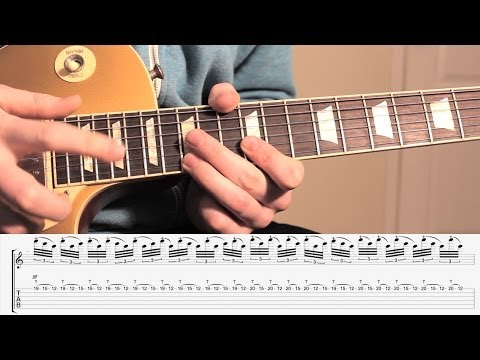 'ONE' - by Metallica -  MAIN GUITAR SOLO LESSON -**WITH TABS** - (Tapping Section)