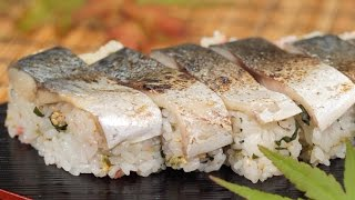 Pressed Sushi with Seared Marinated Mackerel Recipe (Shime Saba Oshizushi) | Cooking with Dog
