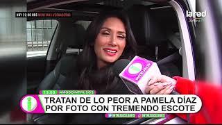 Download Video La escotada foto de Pamela Díaz que generó severos insultos en redes sociales MP3 3GP MP4