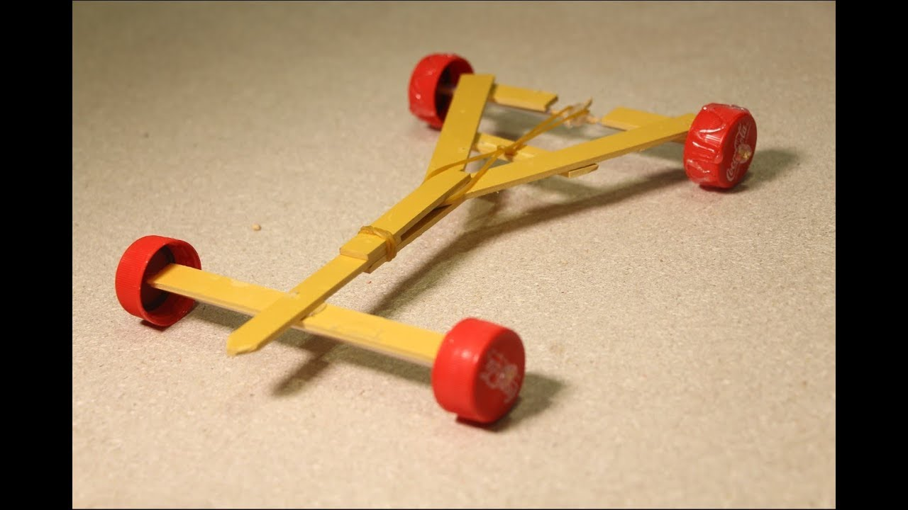 Stylish Powerful Rubber Band Car Homemade Projects For