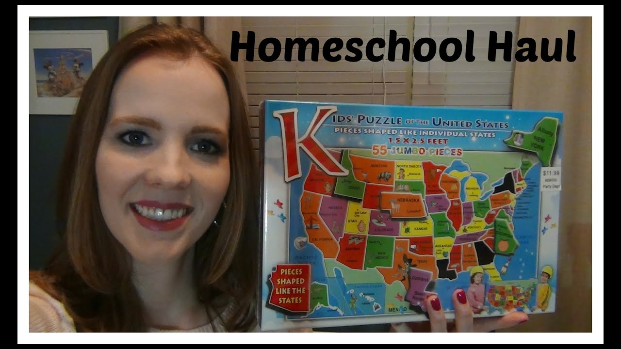 Homeschool Haul Educational Dice Games US Map Puzzle Scotch - Us states map puzzle game