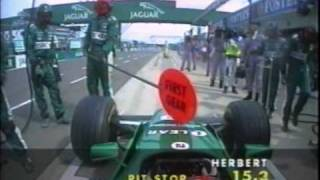 F1 British GP 2000 Team Jaguar Pit Stop Disasters