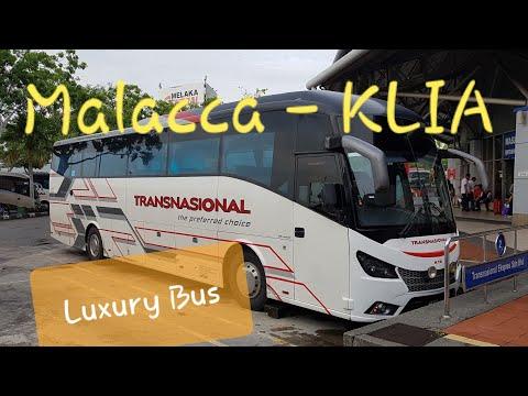 Transnasional Bas Melaka Sentral to KLIA / Klia2 | Malacca - Malaysia Bus Ekspress Trip Experience
