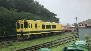 いすみ鉄道いすみ300型大多喜駅入線