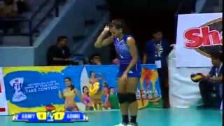 5 service aces of Michelle Morente (Ateneo Lady Eagles)