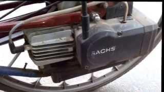 Визуальный обзор велосипеда SPARTA с бензиновым  двигателем SACHS 30см