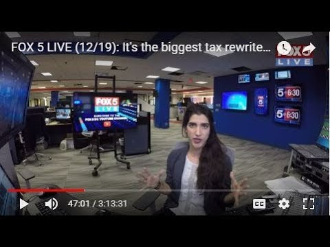 FOX 5 LIVE (12/19): It's the biggest tax rewrite in 20 years - HOUSE VOTES; Amtrak cleanup continues