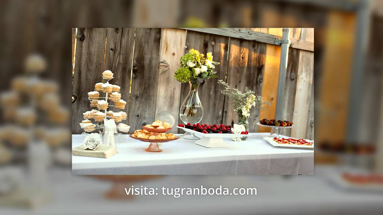 Decoraciones de bodas sencillas 2015 youtube for Decoracion de bodas economicas