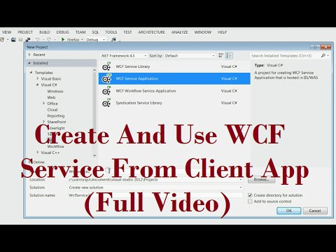 Create A WCF Service And Use WCF Service From Client Application ...