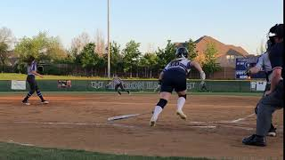 Maddy catches fly ball for out vs FM