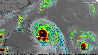 VIDEO:  Hurricanes Irma and Hurricane Jose From Space