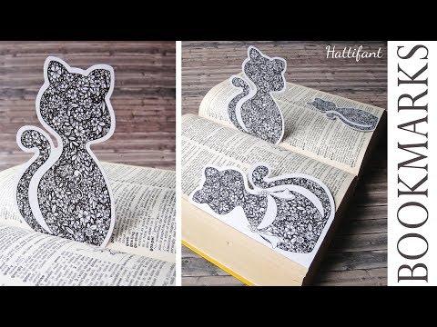 Hattifant - Flower Cat Bookmarks