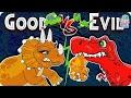 The Jurassic   Good Vs Evil   Dinosaurs Cartoon For Children   Dinosaur Story Episode 7