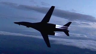 B-1B Lancer Air Refueling & Awesome Burner Break