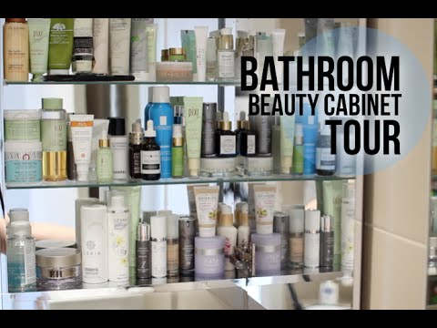 Great Bathroom Beauty Cabinet Tour | Lily Pebbles   YouTube