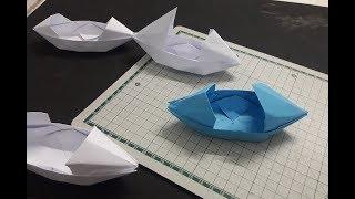 สอนพับเรือกระดาษ | Ep-Boat 3 | How to make a Paper Boat Origami Boat