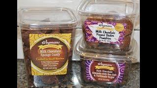 Wegmans: Sponge Candy, Peanut Butter Pumpkins & Almonds with Sea Salt & Turbinado Sugar