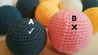 How to crochet perfect balls - amigurumi balls