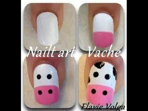 photo nail art vache