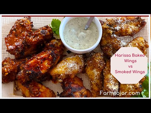 Low Carb Harissa Baked Wings vs Smoked Wings - a Taste Test