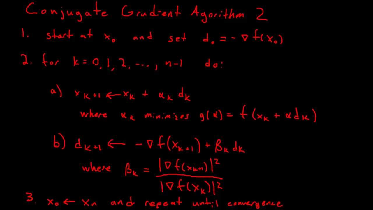 Introduction to Conjugate Gradient