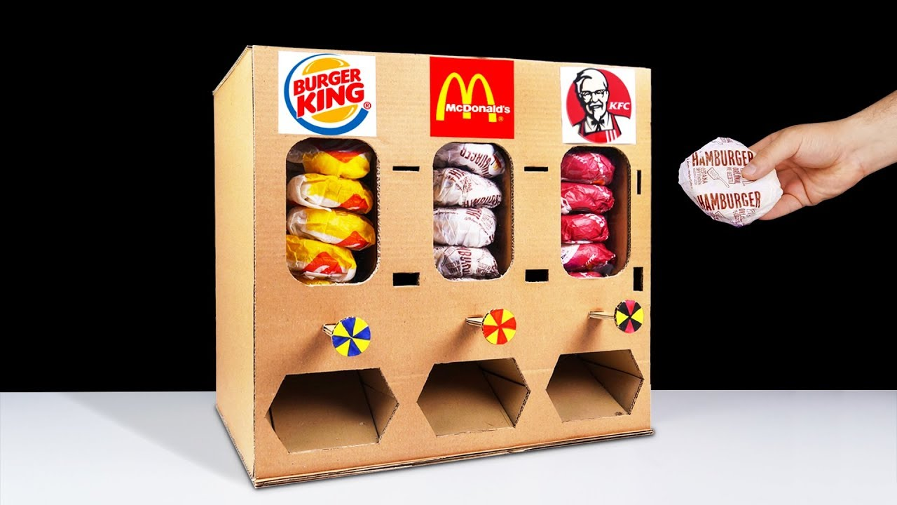 Diy How To Make Burger King Mcdonalds And Kfc Vending Machine