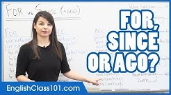 FOR, SINCE or AGO? Prepositions of Time - English Grammar
