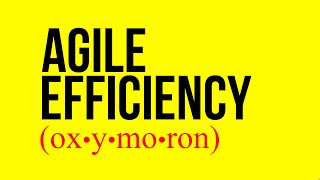 Agile Efficiency (is an Oxymoron)
