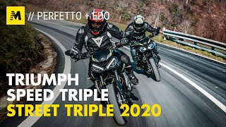 Triumph Street Triple vs Speed Triple 2020: sfida in casa!