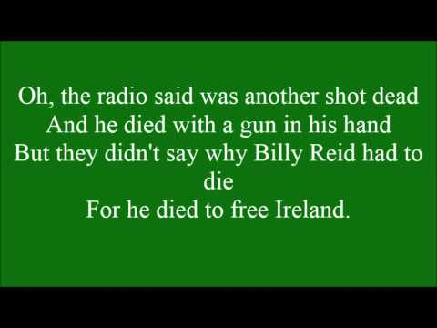 Ballad of Billy Reid with lyrics