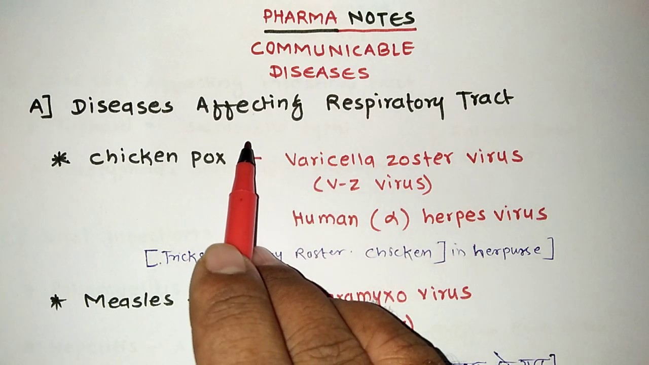 COMMUNICABLE DISEASES | PART -1 | RRB PHARMACIST EXAM | GPAT | ESIC | DI | NIPER