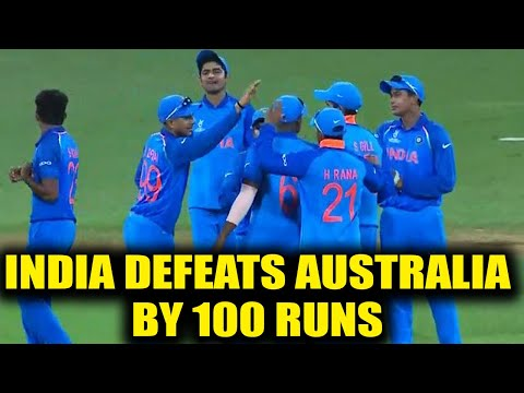 India beats Australia by 100 runs to wins first match in U-19 World cup | Oneindia News