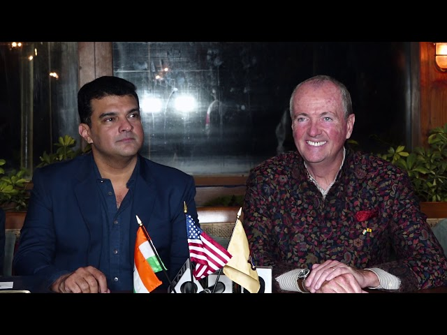 Siddharth Roy Kapur & Philip Murphy At MOU Signing Ceremony Of The New Jersey Motion Picture