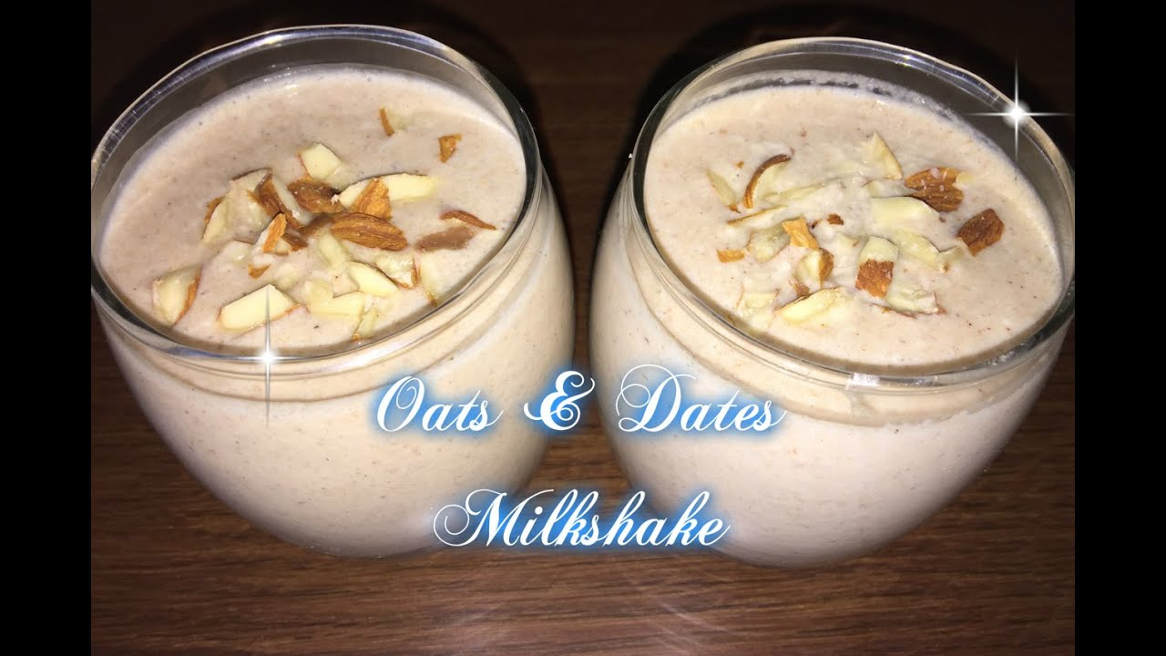 Easy dates milkshake recipe
