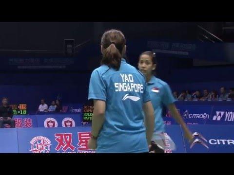 Michelle Li/Alex Bruce vs.Yao Lei/Shinta Mulia Sari - 2011 Sudirman Cup Canada vs.Singapore