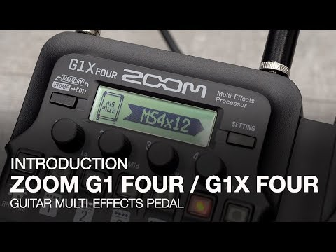Zoom G1X FOUR Multi-effects Processor with Expression Pedal   Sweetwater