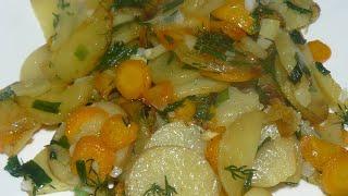 Молодая жареная картошка Ммм вкуснятина