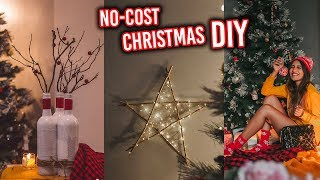 NO COST DIY CHRISTMAS DECOR + PAINTING + DECORATING MY HOUSE 2018