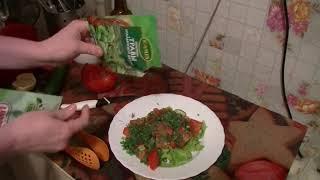 Полезный и вкусный салат из овощей с оливковым маслом