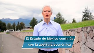 El gobernador Alfredo del Mazo Maza dijo que la entidad se mantiene en semáforo naranja, aunque enfatizó la importancia de seguir abriendo las actividades económicas