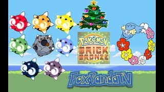 FoxPandaTV Roblox [Christmas] Pokemon Brick Bronze MINIOR & COMFEY in PBB COMPLETED